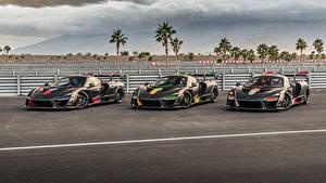 Papel de Parede Desktop McLaren Tuning Três 3 Preto Metálico 2018-20 Senna automóvel