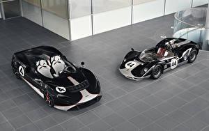 Bakgrundsbilder på skrivbordet McLaren Tuning Två 2 Svart Metallisk Roadster 2020-21 M1, MSO Elva M1A Theme Bilar