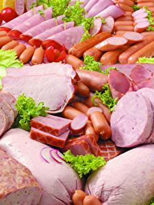 Fotos Fleischwaren Schinken Wurst Frankfurter Würstel Geschnitten