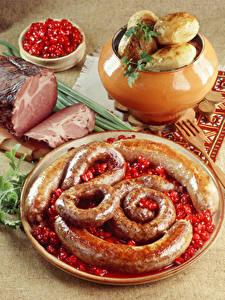 Fotos Fleischwaren Kartoffel Frankfurter Würstel Schinken