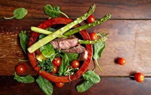 Hintergrundbilder Fleischwaren Tomaten Spargel Basilienkraut  das Essen
