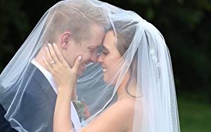 Hintergrundbilder Mann Paare in der Liebe 2 Bräute Bräutigam Heirat Lächeln Hand junge frau