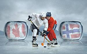 Hintergrundbilder Mann Hockey 2 Uniform Schlittschuh Kunsteisbahn Helm sportliches