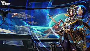 Bureaubladachtergronden Mannen Schepen Cloud Raider Vox Vainglory Computerspellen Fantasy Ruimte