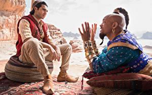 Fotos Mann Will Smith Schmuck Sitzt Hand Neger Aladdin (2019, Mena Massoud Film Prominente