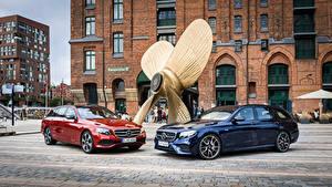 Hintergrundbilder Mercedes-Benz Zwei Metallisch 2016 E-Klasse Estate Autos