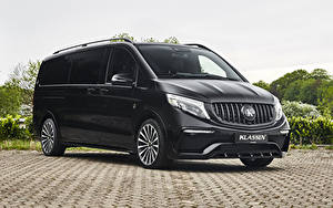 Bilder Mercedes-Benz Ein Van Schwarz 2020 Klassen V-Klasse Lang auto