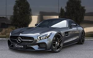 Hintergrundbilder Mercedes-Benz Grau AMG C190 GT-Class