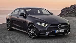 Hintergrundbilder Mercedes-Benz Schwarz Limousine Metallisch AMG, CLS, 53 4MATIC, 2018