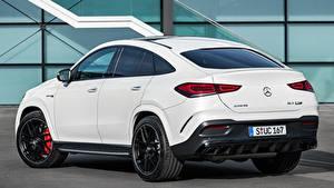 Hintergrundbilder Mercedes-Benz Weiß Coupe Metallisch AMG, GLE 63 S 4MATIC automobil