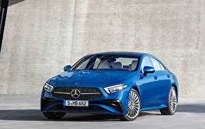 Fotos Mercedes-Benz Blau Metallisch CLS 350 AMG Line, Worldwide, (C257), 2021 automobil