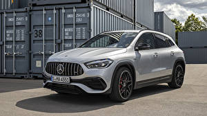 Fotos Mercedes-Benz Silber Farbe Metallisch Softroader GLA 45 S 4MATIC, Worldwide H247, 2020 auto