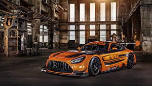 Fondos de Pantalla Mercedes-Benz Tuneo Naranja Metálico 2019 AMG GT3 autos