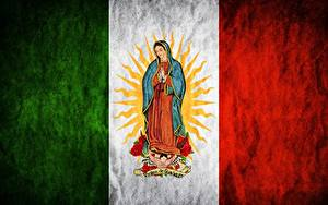 Image Mexico Flag Madonna, Maria, Regina Mundi, Saint Mary, Virgen de Guadalupe