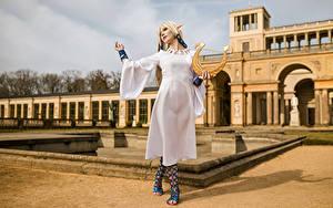 Bilder Mikhail Davydov photographer Elfen Blondine Cosplay Posiert Zelda junge Frauen Fantasy