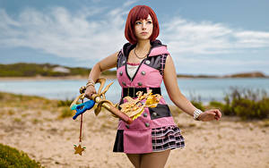 Hintergrundbilder Mikhail Davydov photographer Pose Kleid Cosplay Bokeh Kairi, Kingdom Hearts 3 Mädchens Spiele Fantasy