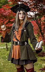 Bilder Mikhail Davydov photographer Cosplay Posiert Brille Blick Scholar, Final Fantasy XIV junge frau Spiele Fantasy