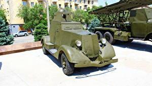 Fotos Waffe Russland Wolgograd Russische Museum BA-20M Heer