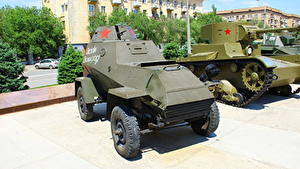 Bilder Waffe Russland Wolgograd Museum Russische BA-64B Heer