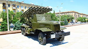 Hintergrundbilder Raketenwerfer Russland Wolgograd Museum Russische BM-13 Katyusha Heer