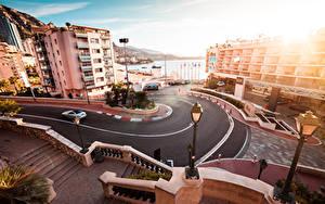 Fotos Monaco Straße Monte-Carlo Gebäude Straßenlaterne Stadtstraße