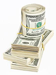 Bilder Geld Papiergeld Dollars Weißer hintergrund