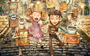 Fotos Monsters Kleine Mädchen Junge The Boxtrolls Animationsfilm Fantasy Kinder