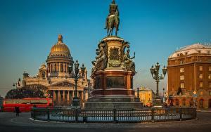 Hintergrundbilder Denkmal Sankt Petersburg Russland Kathedrale Tempel Saint Isaac's Cathedral