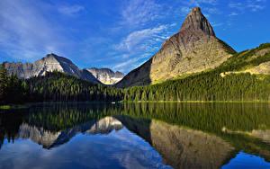 Fotos Gebirge Wälder See Landschaftsfotografie Natur