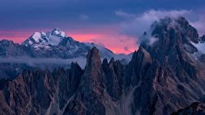 Bilder Gebirge Italien Felsen Dolomites, Devils Tower, Torre del Diavolo, Cadini di Misurina
