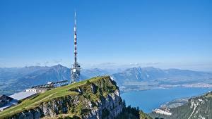 Bilder Berg See Schweiz Felsen Alpen lake Thun, mount Niederhorn Natur