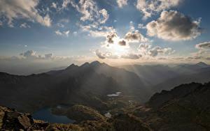 Fotos Berg Himmel Andorra Wolke Lichtstrahl Pyrenees