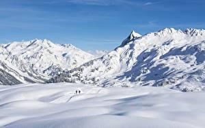 Hintergrundbilder Gebirge Winter Österreich Schnee Vorarlberg Natur