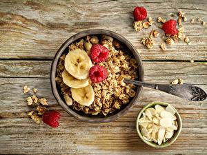 Fotos Müsli Schalenobst Bretter Frühstück Schüssel das Essen