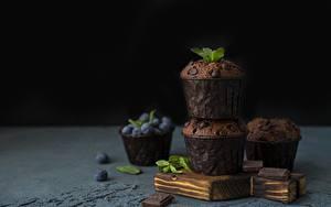Hintergrundbilder Muffin Keks Schokolade Heidelbeeren das Essen