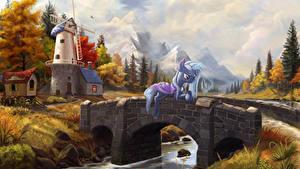 Bilder My Little Pony Brücken Mühle Zeichentrickfilm