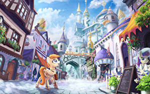 Fotos My Little Pony Gebäude Fantastische Welt Animationsfilm