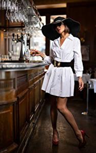 Hintergrundbilder Pose Kleid Der Hut Bar Brille Nadege