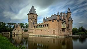 Bilder Niederlande Burg Teich Turm North Brabant, Kasteel Heeswijk Städte