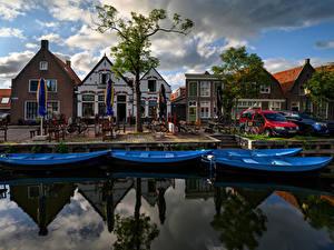 Fotos Niederlande Gebäude Schiffsanleger Boot Kanal Singelwijk Städte