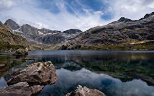 Bilder Neuseeland Gebirge Steine See Felsen Lake Adelaide
