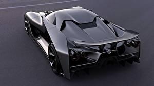 Bilder Nissan Hinten Metallisch Schwarz 2020, Vision Gran Turismo Autos