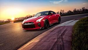 Hintergrundbilder Nissan Rot GTR Track Edition 2017 Autos