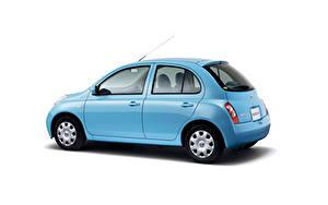 Hintergrundbilder Nissan Weißer hintergrund Hellblau Metallisch  Autos