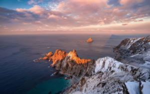Papel de Parede Desktop Noruega Costa Mar Lofoten Nuvem Naturaleza