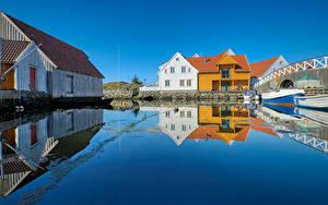 Hintergrundbilder Norwegen Haus Wasser Spiegelt Skudeneshavn, Rogaland