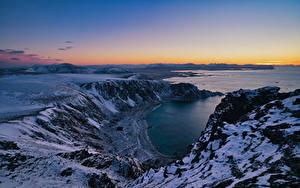 Hintergrundbilder Norwegen Lofoten Küste Berg Von oben Natur