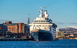 Fotos Norwegen Bootssteg Schiff Tromso
