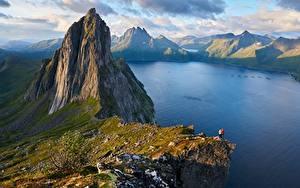 Hintergrundbilder Norwegen Berg Landschaftsfotografie Felsen Fjordgard, Segla Mountain