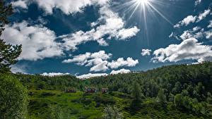 Hintergrundbilder Norwegen Himmel Wolke Sonne Hjelmeland
